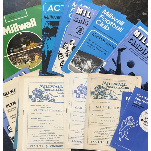 37 - Quantity of 1960's and 1970's Millwall football programmes, 40 items in the lot...