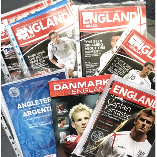 4 - From a private collection quantity of England International Football programmes 2005/06/07/08/10, 21...