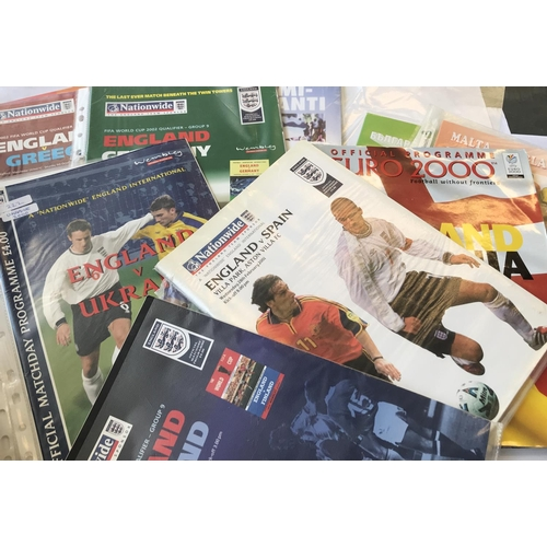 5 - From a private collection quantity of England International Football programmes 2000/01/02/03/04 31 ...