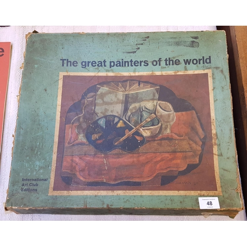48A - Three folders mid 20th C International Art Club edition Great Painters of the World series including...
