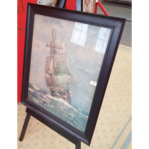 50 - 19th C f/g print The Whaler Cadmns from an original painting by James G Tyler frame size 30ins x 25i...