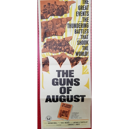 19 - Original movie lobby poster The Guns of August c.1965 35ins x 14ins...