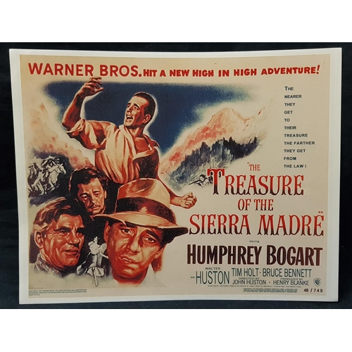 30 - Full set of eight movie lobby cards re-release The Treasure of The Sierra Madre, 14ins x 11ins...