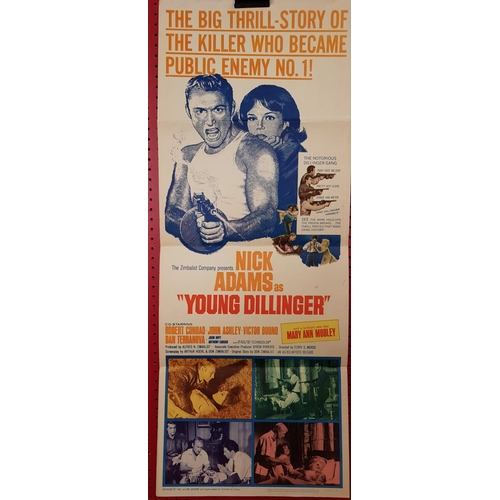 5 - Original movie lobby poster Young Dillinger c.1965 35ins x 14ins...