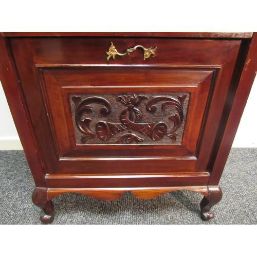5 - Edwardian, Art Nouveau, mahogany, Gramophone cabinet. 103cm h, 61cm w, 38cm d...
