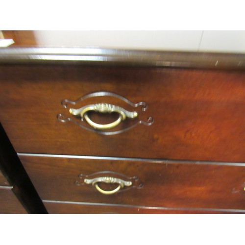 18 - Four drawer, mahogany, chest of drawers 73cm w, 42cm d, 84cm h...