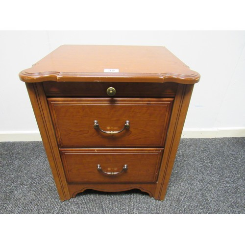 39 - Bedside cabinet with two drawers and pull out butlers tray 49cm w, 42cm d, 56cm h...