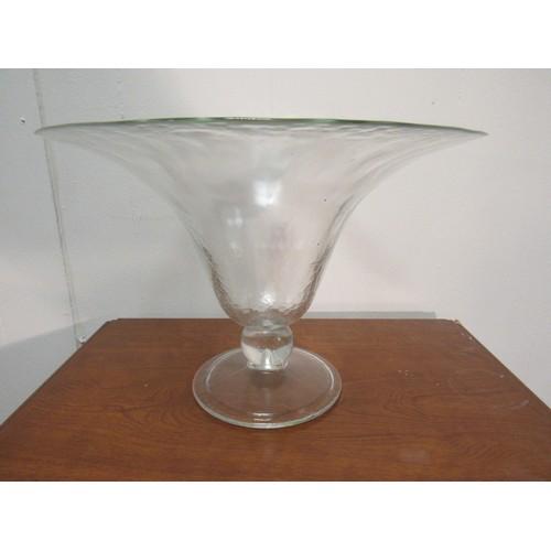 41 - Glass vase 31cm diameter, 22cm h...