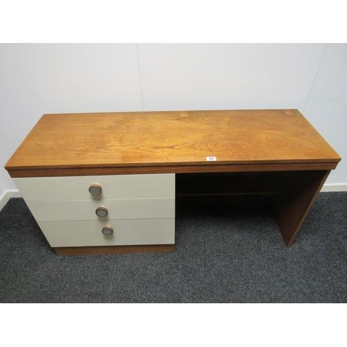 50 - Vintage mid century style dressing table. 138cm w, 45cm d, 69cm h...