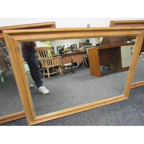 52 - 3 large hairdressing mirrors. 105cm x 74cm...