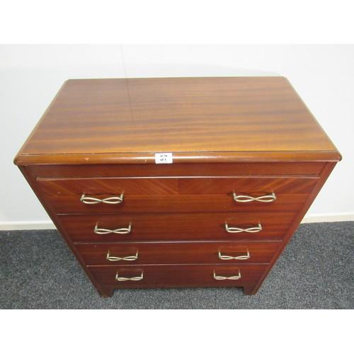 57 - Mahogany four drawer chest of drawers. 78cm w, 43cm d, 93cm h...