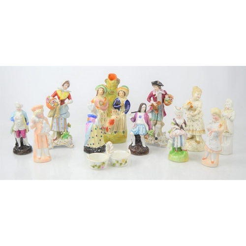 272 - A group of ceramic figures to include Staffordshire and Sitzendorf  examples
