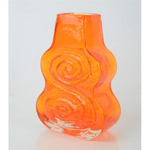 274 - A Whitefriars tangerine Cello vase by Geoffrey Baxter, height 18cm.