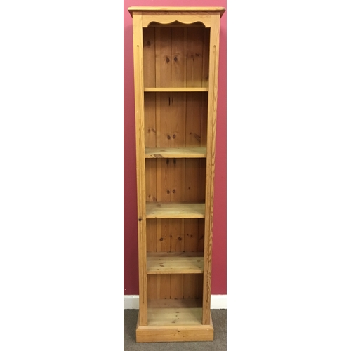 6 - Slimline  Pine Bookcase Measures 182x42cm...