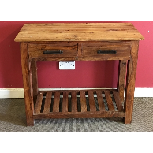 15 - Mexican Wood Side Unit With Drawers Measures 90x35cm...