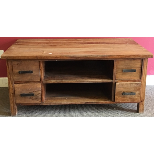 18 - Mexican Wood Coffee Table Measures 110x61cm...