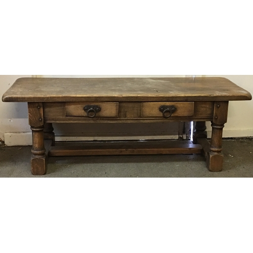 24 - Oak Coffee Table Measures 125x45cm...