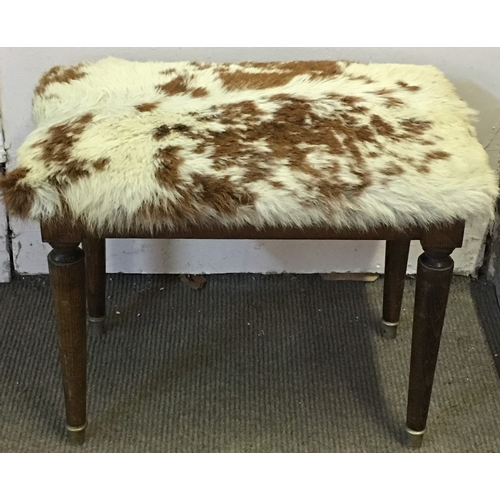 26 - Hide Skin Stool Measures 45x36cm...