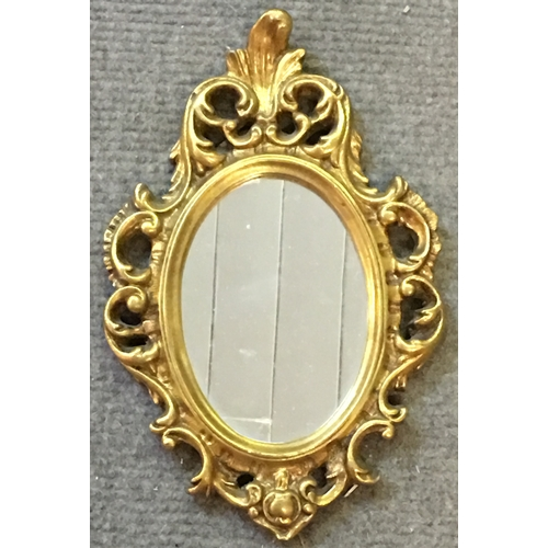 48 - Small Decorative Gilt Framed Mirror Measures 22x35cm...