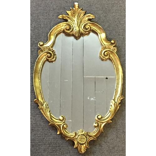47 - decorative Gilt Framed Mirror Measures 35x60cm...