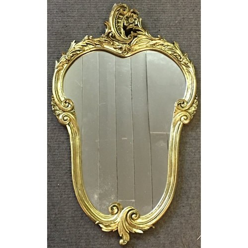 46 - Gilt Framed Mirror Measures 38x65cm...
