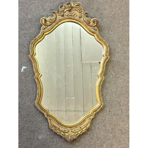 44 - Gilt Framed Mirror Measures 42x71cm...