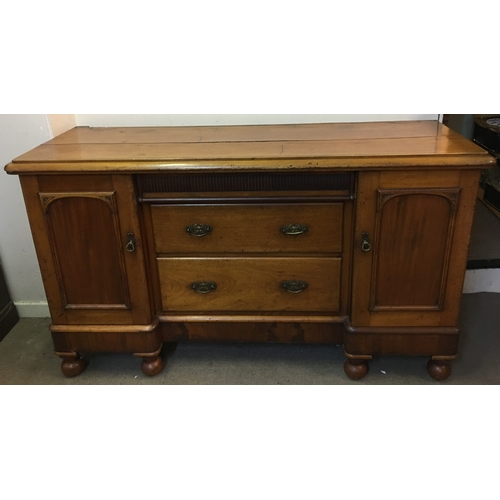 39 - Large Vintage  Sideboard With Bun Feet...