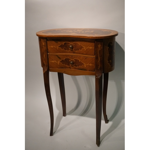 8 - French Occasional Side  Table  with 2 draws height 66cm...