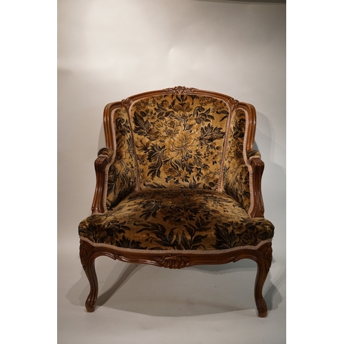 15 - Upholstered French chair...