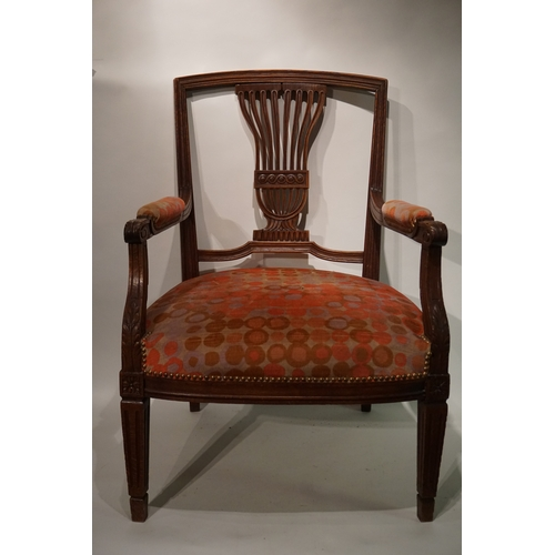 16 - Antique Upholstered Arm chair...