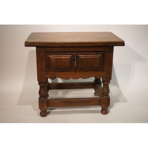 39 - Oak Table With  drawer  57cm x 36cm x 49cm...