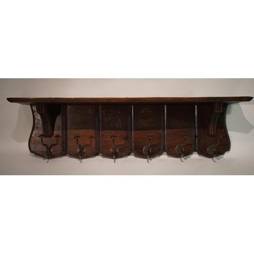 41 - Coat hanger shelf 100cm x 22cm x 26cm...