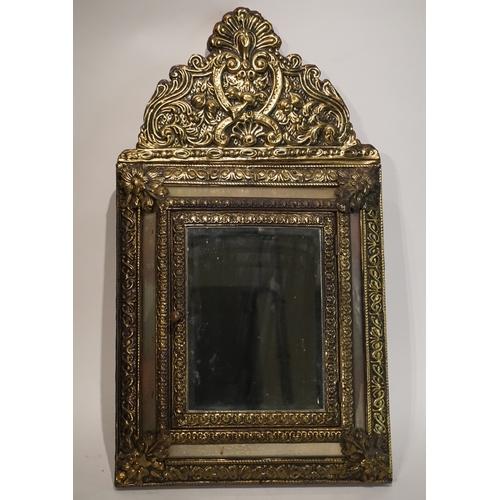 42 - Decorative Brass Framed mirror with door 35cm x 62cm...