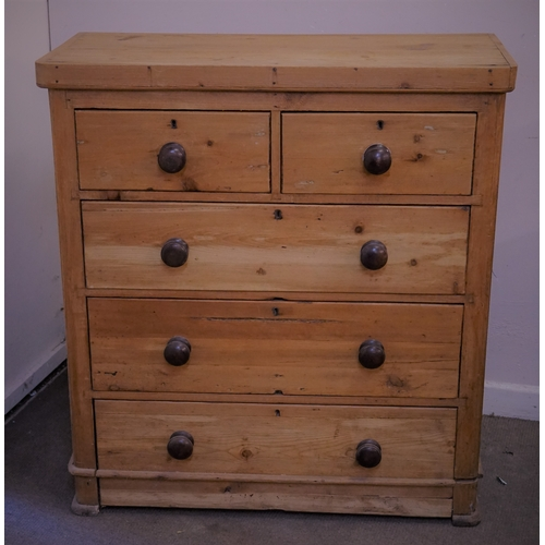 29 - 2 over 3 Pine Chest Of Drawers 44cm x 96cm x 103cm...