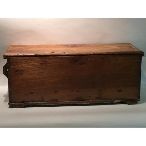 2 - Vinatge Wooden chest measuring 100cm x 42cm x 41cm high...
