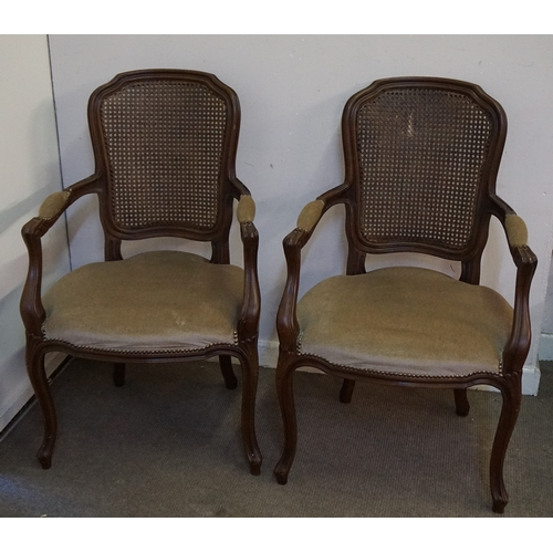 7 - Pair of Vintage Louis Style arm chairs both measuring at 56cm x 54cm x 96cm...