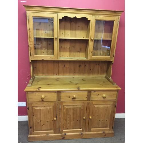 17 - Pine welsh dresser 137cm x 45cm x 194cm...