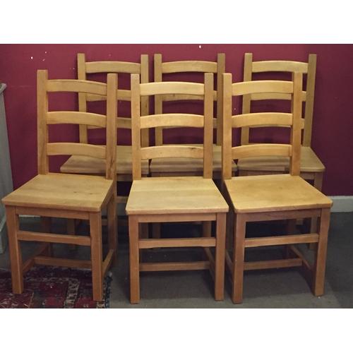 18 - 6 x hardwood chairs 45cm x 40cm x 97cm...