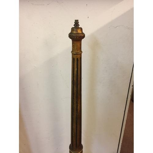 10 - Gilt wood lampstand  152cm high...