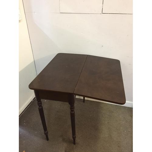 26 - Card table 79cm x 39cm x 78cm...