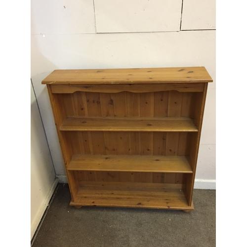 27 - Pine bookshelf 90cm x 21cm x 104cm...