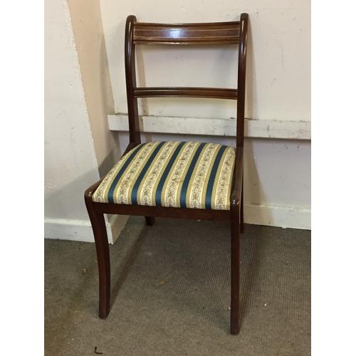 28 - 6 Regency Style Chairs. 46cm x 42cm x 84cm...