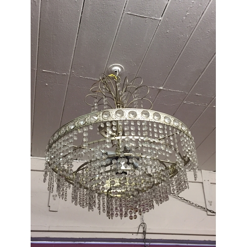 87 - French Droplet chandelier...