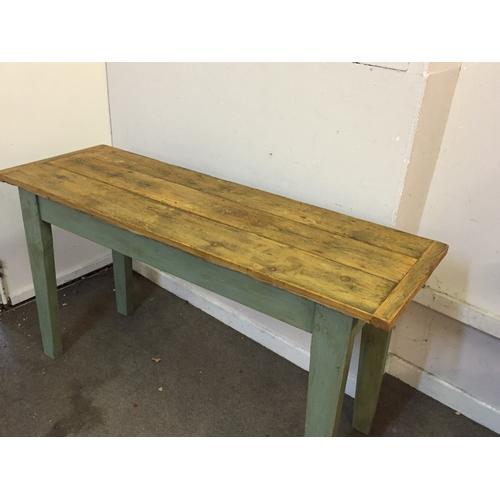 42 - Vintage farmhouse table 143cm x 48cm x 79cm...