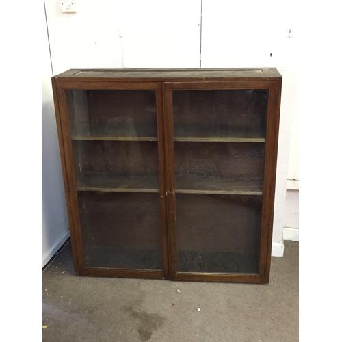 43 - Vintage glazed Bookcase  32cm x 119cm x 124cm high...