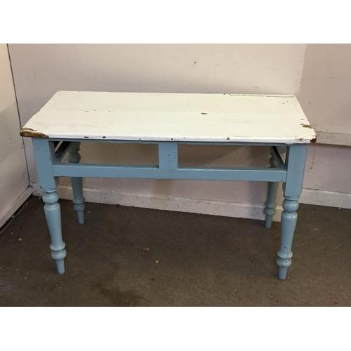 44 - Vintage farmhouse table 54cm x 116cm x 75cm...