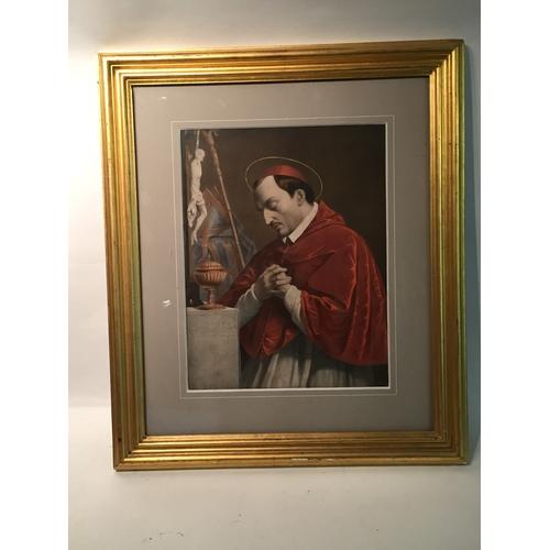 49 - Gilt framed religous print 60cm x 70cm...