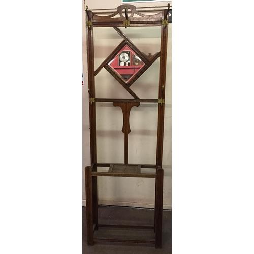 30 - Hall stand 207cms High...