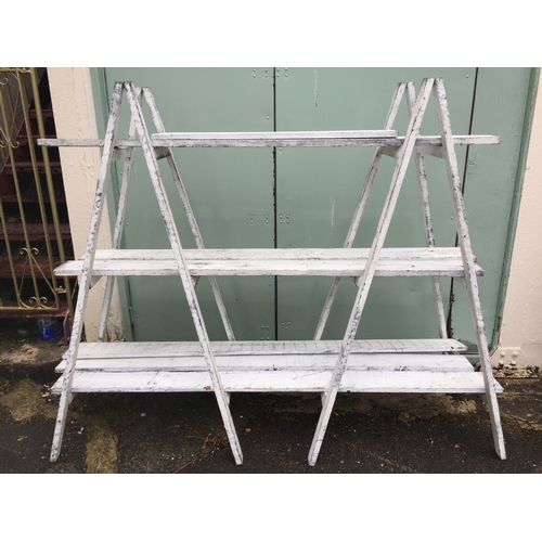 9 - Vintage Style Trestles Along With Various Planking  165 cms High 200 cms Wide With Planks....