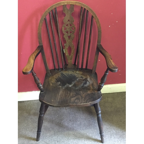 13 - Elm Carver Chair Possibly Ercol...